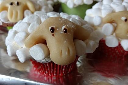 Cupcake-Schafe mit Marshmallow-Frosting 126