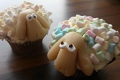 Cupcake-Schafe mit Marshmallow-Frosting 130