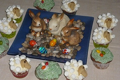 Cupcake-Schafe mit Marshmallow-Frosting 90