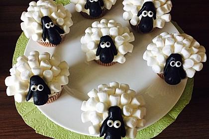 Cupcake-Schafe mit Marshmallow-Frosting 69