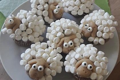 Cupcake-Schafe mit Marshmallow-Frosting 49