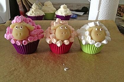 Cupcake-Schafe mit Marshmallow-Frosting 66