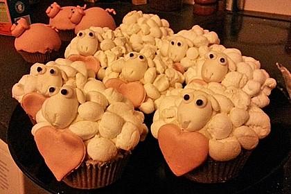 Cupcake-Schafe mit Marshmallow-Frosting 123