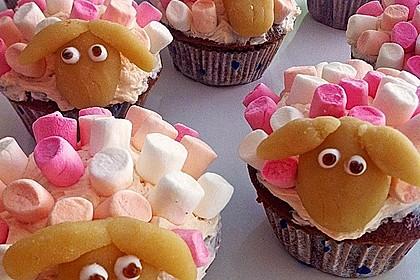 Cupcake-Schafe mit Marshmallow-Frosting 122