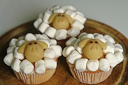 Cupcake-Schafe mit Marshmallow-Frosting 71