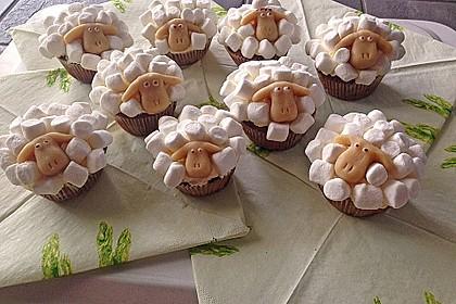 Cupcake-Schafe mit Marshmallow-Frosting 63