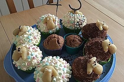 Cupcake-Schafe mit Marshmallow-Frosting 48