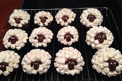 Cupcake-Schafe mit Marshmallow-Frosting 101