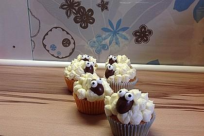 Cupcake-Schafe mit Marshmallow-Frosting 150