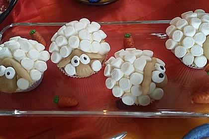 Cupcake-Schafe mit Marshmallow-Frosting 167