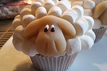 Cupcake-Schafe mit Marshmallow-Frosting 3