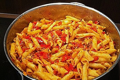 red hot chili pasta rezept mit bild von rixi91. Black Bedroom Furniture Sets. Home Design Ideas