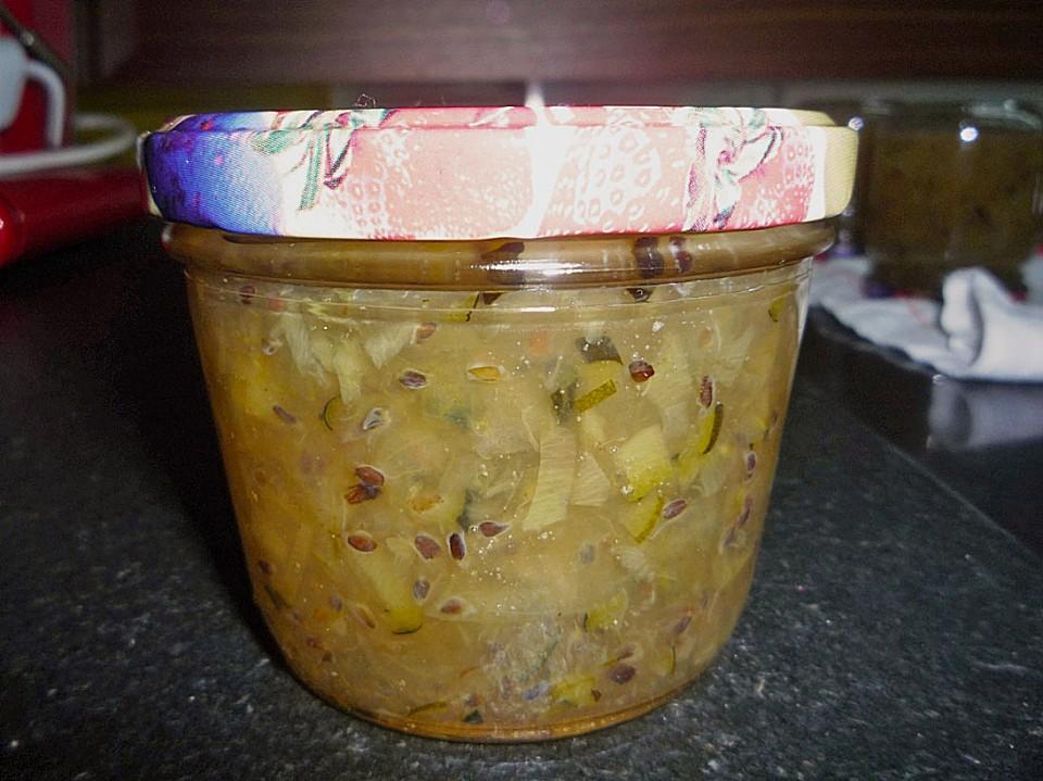 stachelbeer zucchini marmelade rezept mit bild von marly21. Black Bedroom Furniture Sets. Home Design Ideas