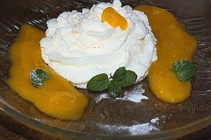Limonen Mousse an Mangosauce 5