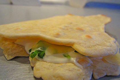 Quesadillas mit selbst gemachten Tortillas