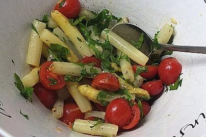 Spargel-Tomaten-Salat mit Parmesan 2