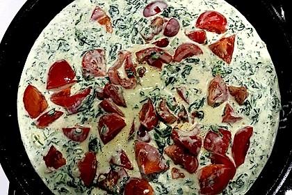 Nudeln mit Spinat, Schafskäse und Tomate 52