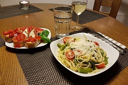 Sehr aromatische Pasta mit grünem Spargel 4