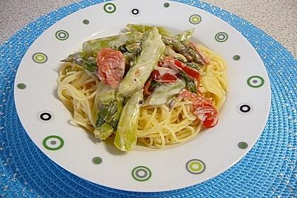 Sehr aromatische Pasta mit grünem Spargel 2