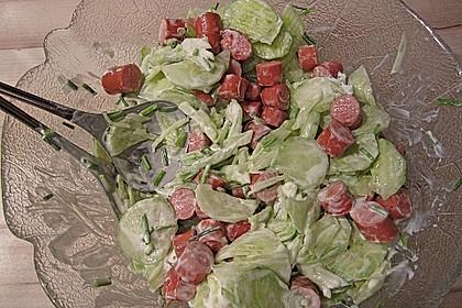 Gurkensalat mit Würstchen 5