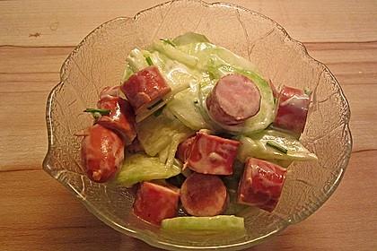 Gurkensalat mit Würstchen 2