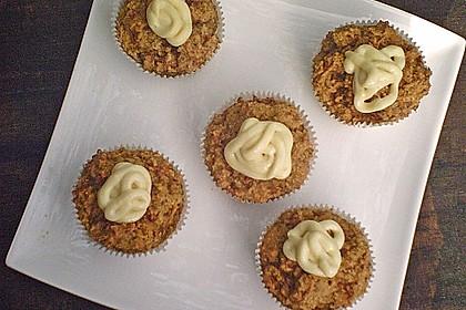 karotten muffins mit aprikosen frischk se topping rezept mit bild. Black Bedroom Furniture Sets. Home Design Ideas