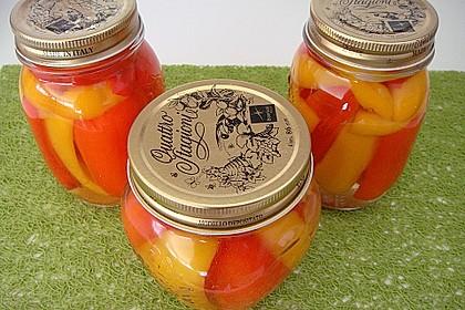 Marinierte Paprika süß-sauer