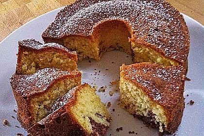 Kuchen mit maismehl gebacken