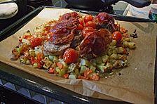 Niederrheinisches Schweinefilet mit Ofengemüse
