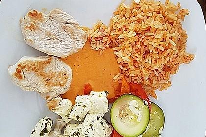Leichte Sommerküche Thermomix : Schafskäse mit paprika tomatengemüse auf reis aus dem thermomix von