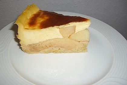 Apfeltorte mit Vanillepudding 2