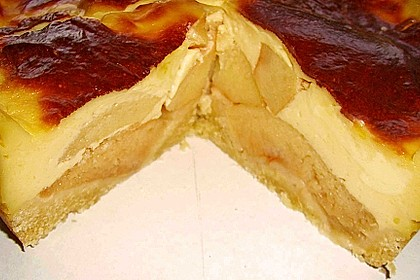 Apfeltorte mit Vanillepudding 1