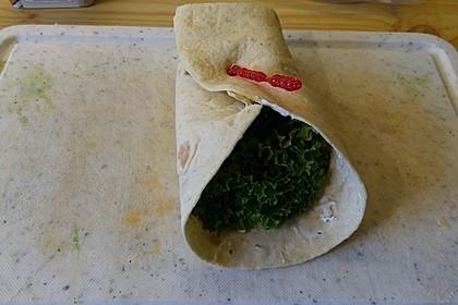 Schinken-Frischkäse-Wrap 6