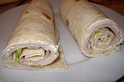 Schinken-Frischkäse-Wrap 1
