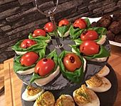 Tomaten-Mozzarella-Häppchen (Bild)