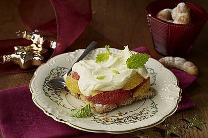Vanillekipferl-Zitrusfrucht-Tiramisu