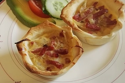 Zwiebelkuchen in der Muffinform 1