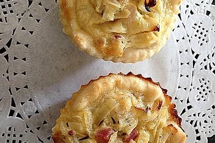 Zwiebelkuchen in der Muffinform 8