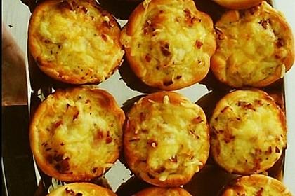 Zwiebelkuchen in der Muffinform 14