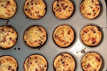 Zwiebelkuchen in der Muffinform 6