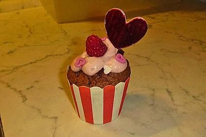 Himbeer-Schoko-Cupcakes 7