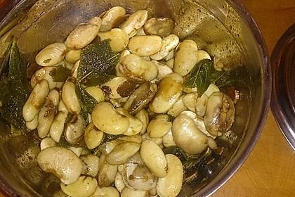 Bohnen mit Salbei 1