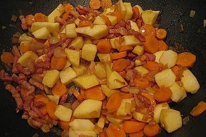 Wirsing  mit Äpfeln und Karotten 7