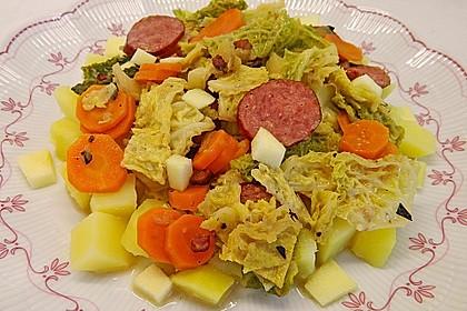 Wirsing  mit Äpfeln und Karotten 1