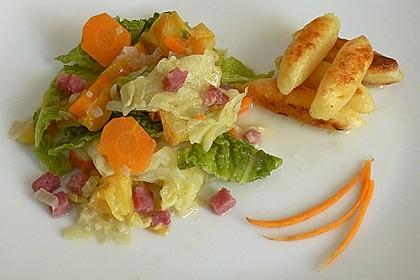 Wirsing  mit Äpfeln und Karotten 3