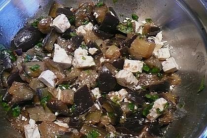 Auberginensalat  mit  Schafskäse 10