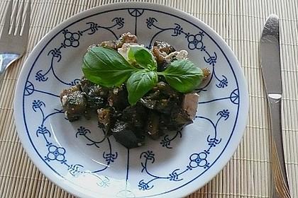 Auberginensalat  mit  Schafskäse 8