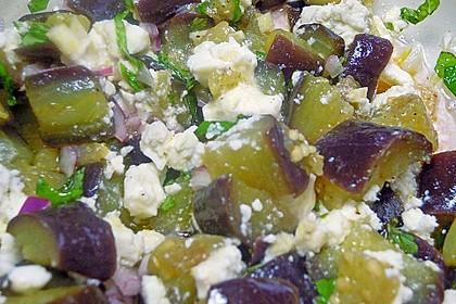 Auberginensalat  mit  Schafskäse 7