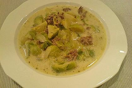 Hackfleisch-Rosenkohl-Suppe 2