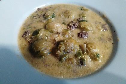 Hackfleisch-Rosenkohl-Suppe 1
